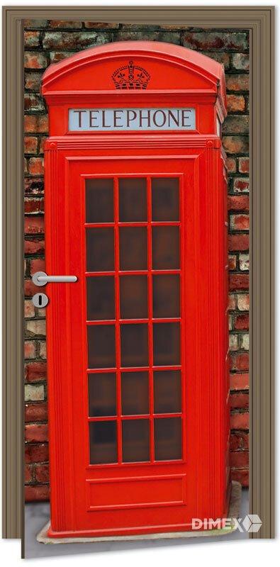 Fototapeta na dvere anglicko telefonna budka