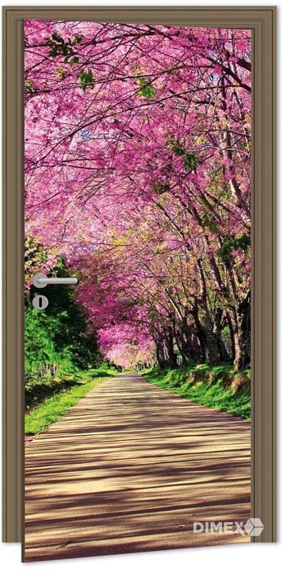 Fototapeta na dvere rozkvitnute stromy