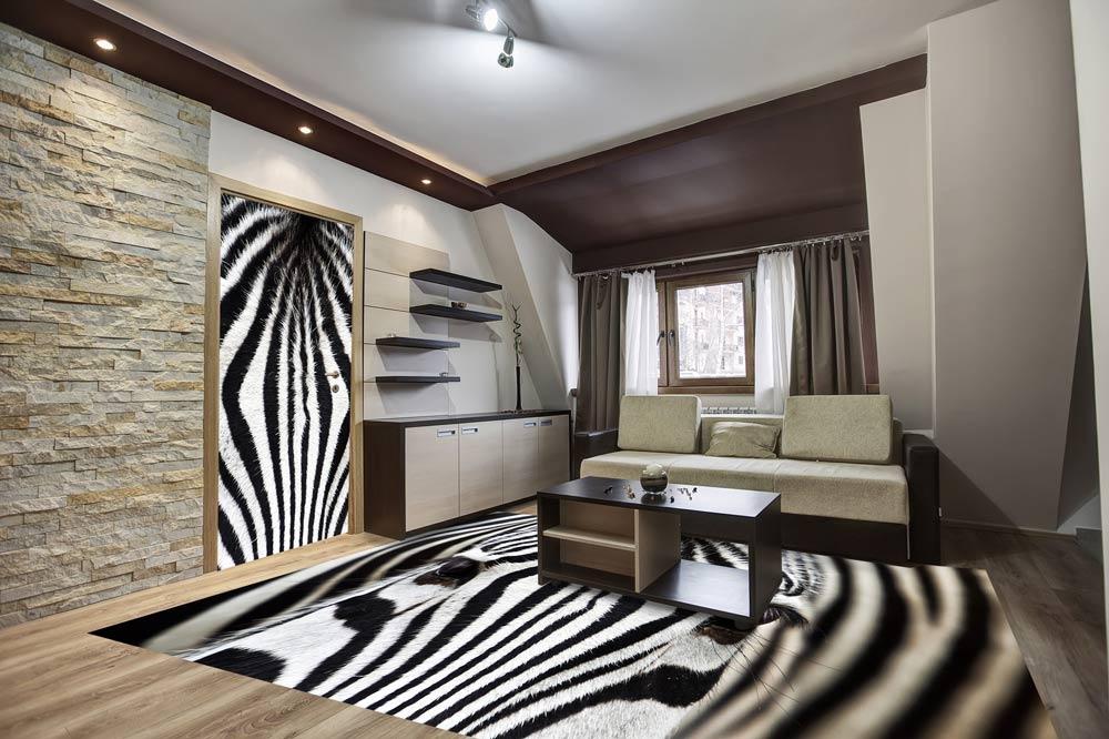 Fototapeta nadvere apodlahu - zebra