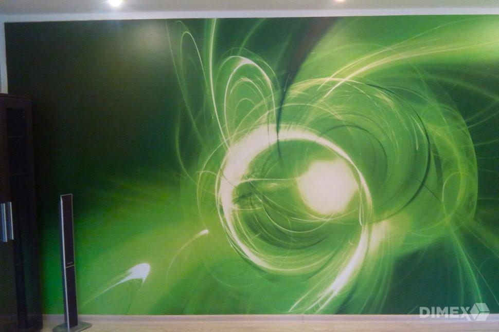 Zelený abstakt fototapeta