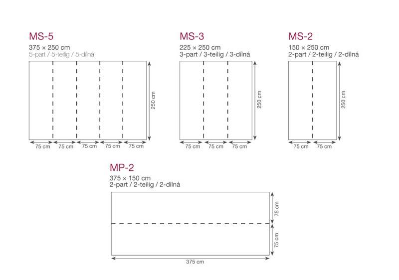 rozmery fototapiet